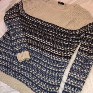 BDG Blue and White Sweater
